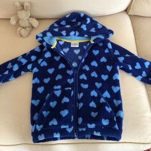 Hanna Andersson marshmallow fleece hoodie jacket